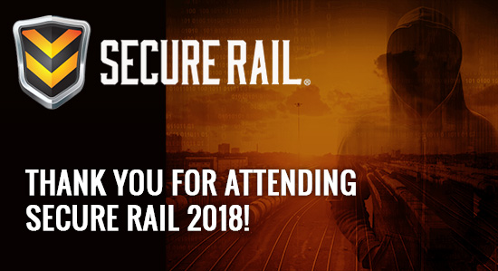 Thank You for Attending Secure Rail 2018!